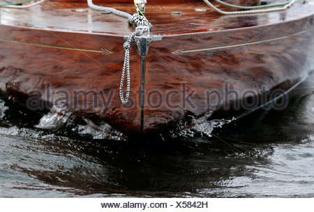 Detail of a sail boat, bow - Stock Photo