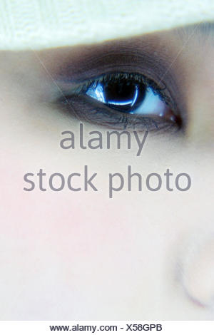 brown eye of an Asian woman - Stock Photo