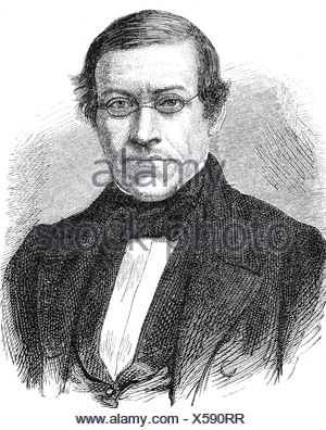 Wheatstone, Charles, 6.2.1802 - 19.10.1875, British physicist, portrait, wood engraving, 19th century, Additional-Rights-Clearances-NA - Stock Photo