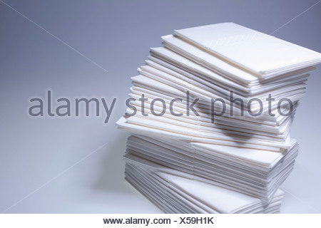 Pile paper tissues - Stock Photo