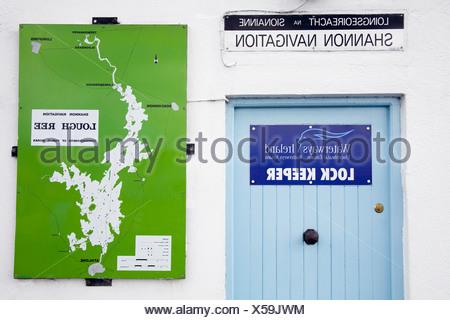 Lock Keeper, River Shannon Lock, Athlone, County Westmeath, Ireland - Stock Photo