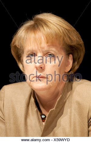 Angela Merkel, Chancellor of Germany and chairwoman of the Christian Democratic Union, CDU - Stock Photo