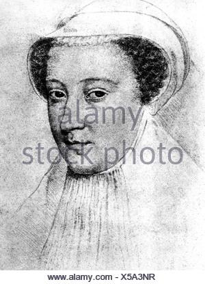 Mary I of Scotland (Mary Stuart), 8.12.1542 - 8.2.1587, - Stock Photo