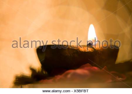 Close-up of a diya - Stock Photo