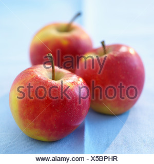 Three gala apples - Stock Photo