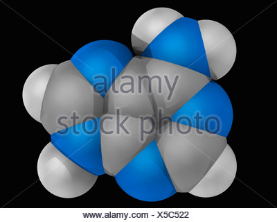 Adenine molecule - Stock Photo