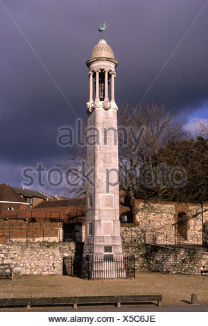 Southampton Hampshire Mayflower Memorial - Stock Photo