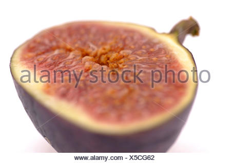 sliced fig and isolated - Stock Photo