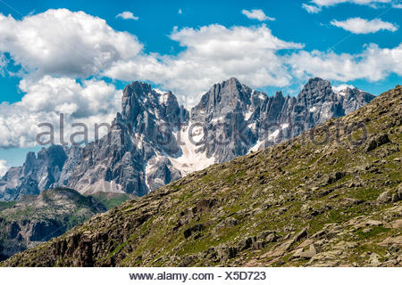 pale of san martino seen from forcella bocche - Stock Photo