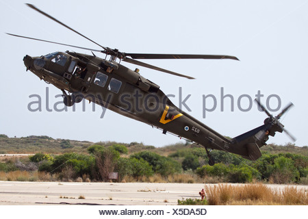 Israeli Air force helicopter, Sikorsky UH-60 Black Hawk in flight - Stock Photo