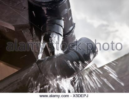 Leaking Gutter Stock Photo 25214372 Alamy