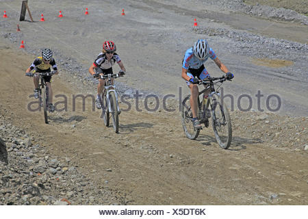 Mountain bike races for children and young persons, - Stock Photo