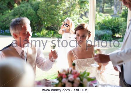 Groom Giving Toast At Wedding Reception Stock Photo 284145598 Alamy