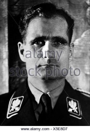 Hess, Rudolf, 26.4.1894 - 17.8.1987, German politician (NSDAP), Adolf Hitler's Deputy 1933 - 1941, portrait, 1930s, Additional-Rights-Clearances-NA - Stock Photo