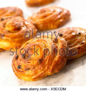 A pain au raisin - Stock Photo