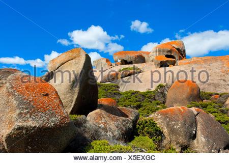 Remarkable rock, Australia, south Australia, Kangaroo Island, Flinders Chase, national park, rock, cliff, lichens - Stock Photo