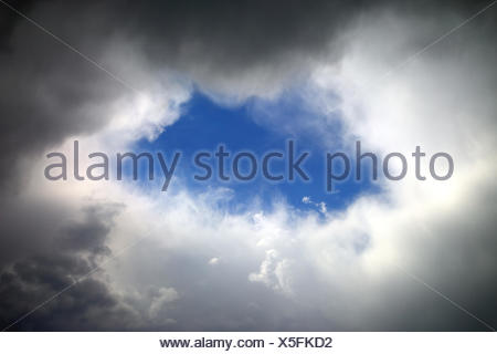 hole in clouds - Stock Photo