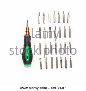 Set tools on white background. - Stock Photo