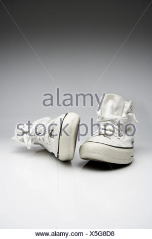 sneakers, Chucks, white, - Stock Photo