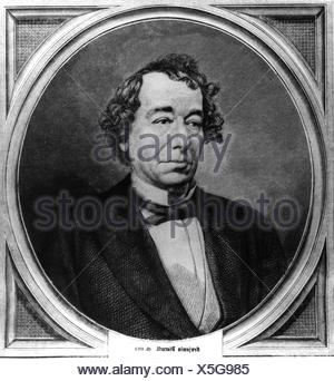 Disraeli, Benjamin Earl of Beaconsfield, 21.12.1804 - 19.4.1881, British politician, Prime Minister 1868 and 1874 - 1880, portrait, wood engraving, 1872, Additional-Rights-Clearances-NA - Stock Photo
