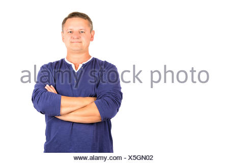 Casually dressed middle aged man - Stock Photo