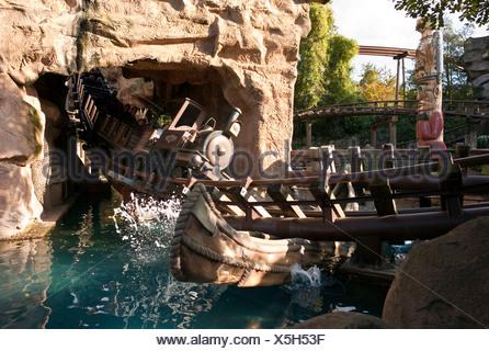 Phantasialand theme park, theme park, MEXICO, COLORADO ADVENTURE attraction, roller coaster, Bruehl, Nordrhein-Westfalen, Germa - Stock Photo