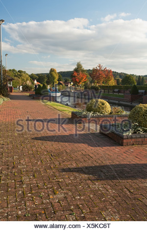 Hambleden Lock on the River Thames near Henley, Oxfordshire, Uk - Stock Photo