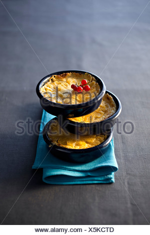 Pineapple and Honey Clafoutis - Stock Photo