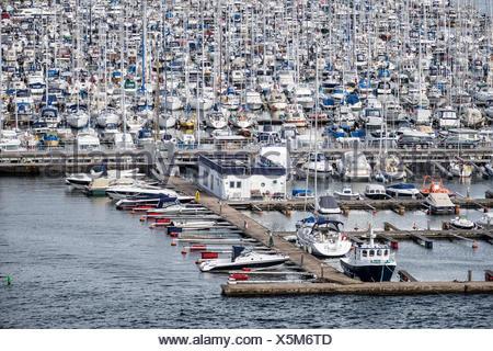 Eine Marina in Oslo in Norwegen. - Stock Photo