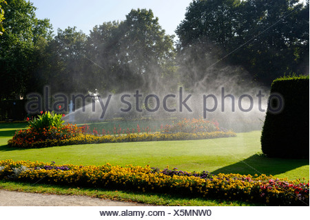 Garden, Electoral Palace, Trier, Rhineland-Palatinate, Germany, Europe - Stock Photo