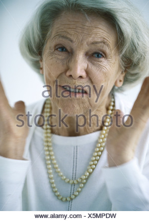 Senior woman, portrait - Stock Photo