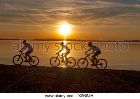 cyclists,cycling,mountain biker - Stock Photo