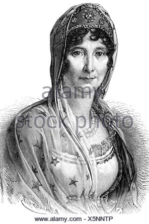 Buonaparte, Laetizia, 24.8.1750 - 2.5.1836, Corsican noblewoman, portrait, wood engraving, 19th century, , - Stock Photo