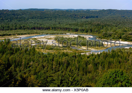 Germany, View of River Isar - Stock Photo