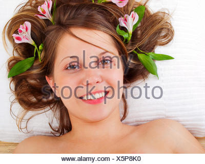 Young woman in spa studio