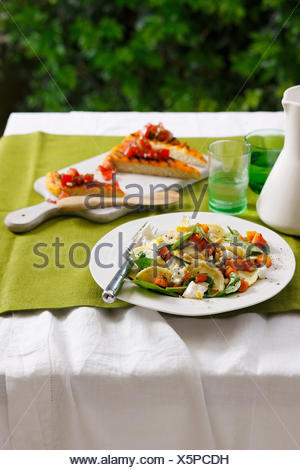 Plate of vegetable salad - Stock Photo