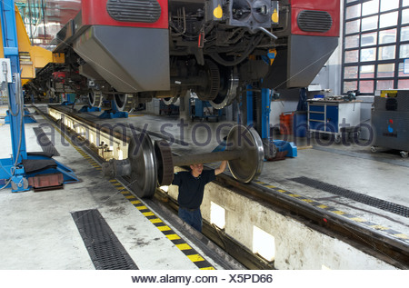 Berlin, Germany, S-Bahn train station in Schoeneweide - Stock Photo