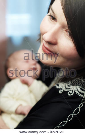 mother and newborn baby - Stock Photo