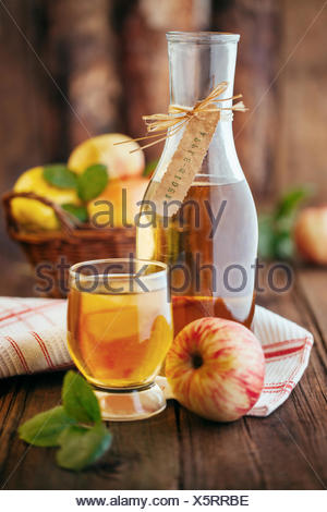 Homemade organic apple cider - Stock Photo