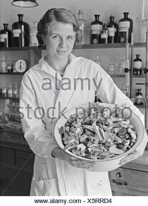 Mitarbeiter des Forschungsinstitut fr Fleischverarbeitung, Deutschland 1930er Jahre. Staff members of research institute for meat processing, Germany 1930s. - Stock Photo