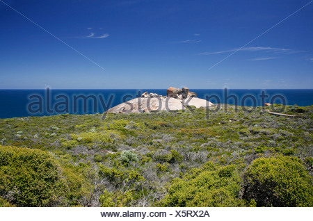 The famous Remarkable Rocks at Flinders Chase National Park on Kangaroo Island, South Australia, Australia - Stock Photo