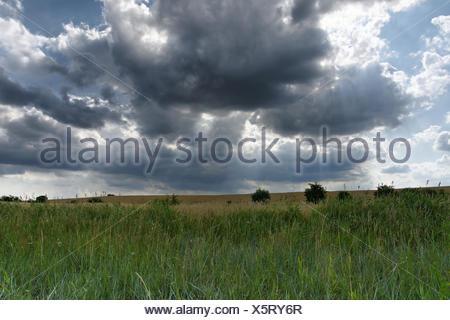 approaching storm in wismar bay,baltic sea - Stock Photo