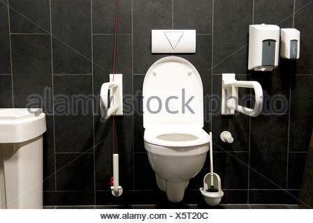 toilet disabled - Stock Photo