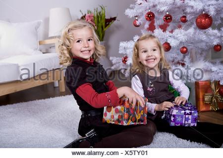 xmas girl - Stock Photo