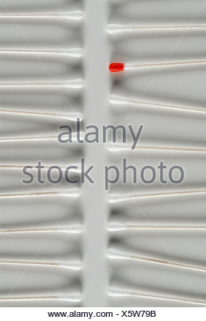 Close-up of cotton swabs on a tray - Stock Photo