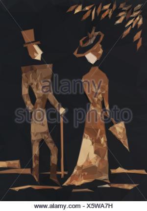 Gentleman and Lady - Stock Photo