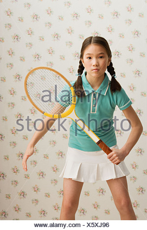 Girl tennis player - Stock Photo