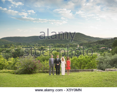 Portrait of wedding party - Stock Photo