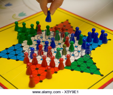 Board game, Chinese Checkers - Stock Photo