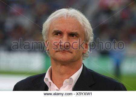 Rudi Voeller, sports director of the German 'Bundesliga' national league team Bayer Leverkusen in the LTU Arena, Duesseldorf, N - Stock Photo